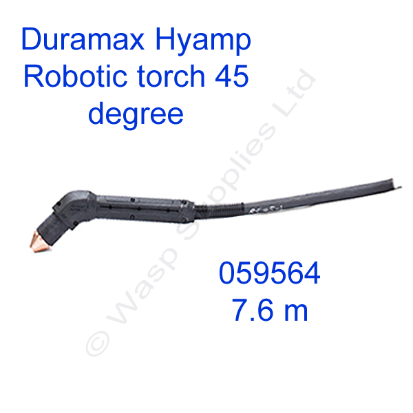 059564 Hypertherm Duramax Hyamp 45 degree robotic torch 7.6m lead
