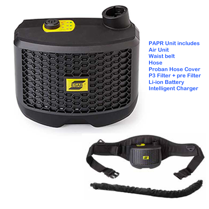 0700002300 ESAB PAPR  unit with 850mm hose for G30 air.