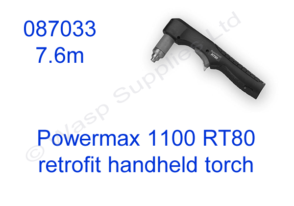 087033 Hypertherm handheld retrofit torch for Powermax 1100 length 7.6m
