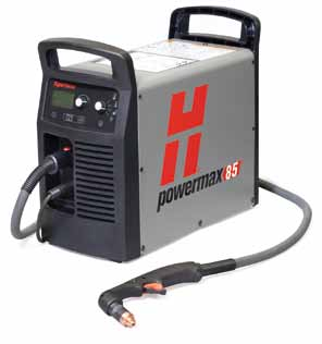 087117 Hypertherm Powermax 85 hand torch Plasma cutter, cuts 38mm, 7.6m  hand torch. 400v CE