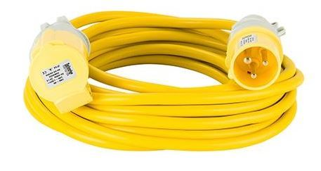 110volt 16amp 10 metre 2.5mm cable, extension lead yellow .