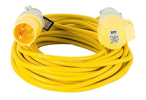 110volt 16amp 14 metre 1.5mm cable, extension lead yellow .