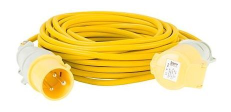 110volt 32amp 14 metre 2.5mm cable, extension lead yellow .