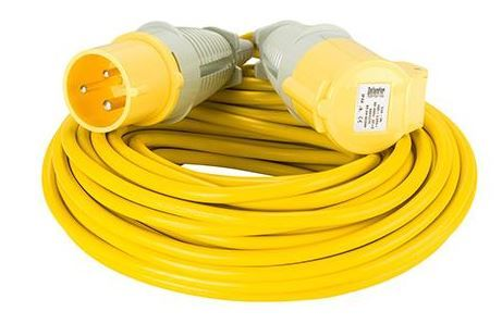 110volt 32amp 25 metre 2.5mm cable, extension lead yellow .