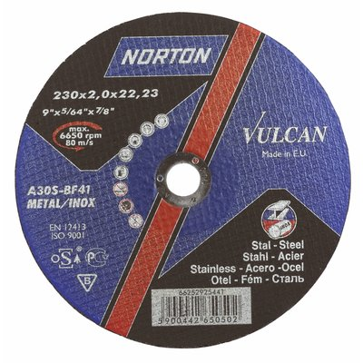 115 x 1mm Norton Vulcan Inox  Thin Slitting disc.