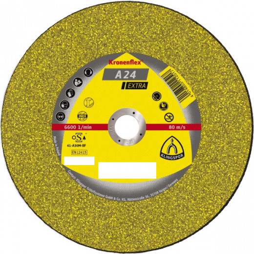 180 x 6mm Klingspor grinding disc, A24 Extra