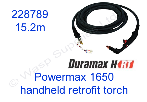 228789 Hypertherm handheld retrofit torch for Powermax 1650 length 15.2m