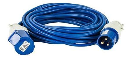 240 volt 16amp 14 metre 1.5mm cable, extension lead blue.