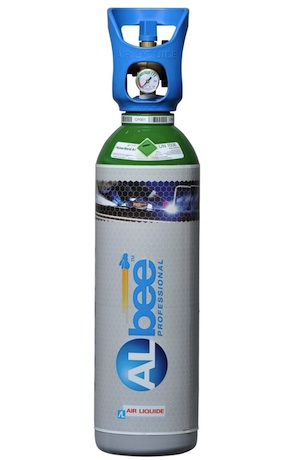 Albee 11 litre Argon Rental free Gas Cylinder and gas. INITIAL PURCHASE