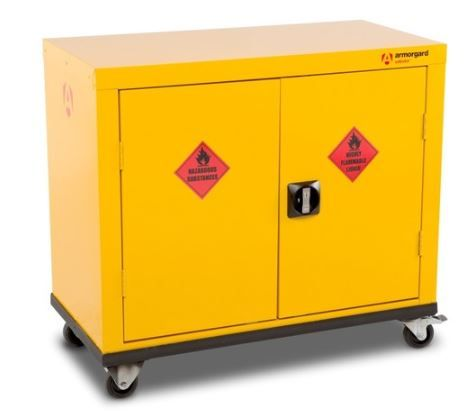 Armorgard SafeStor ~ Mobile HMC1 Hazardous Cupboard for COSHH storage