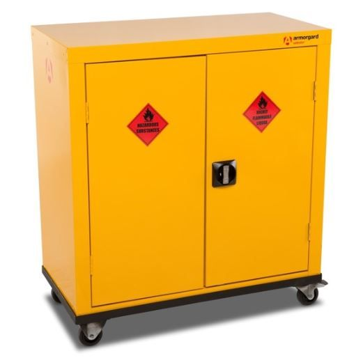 Armorgard SafeStor ~ Mobile HMC2 Hazardous Cupboard for COSHH storage