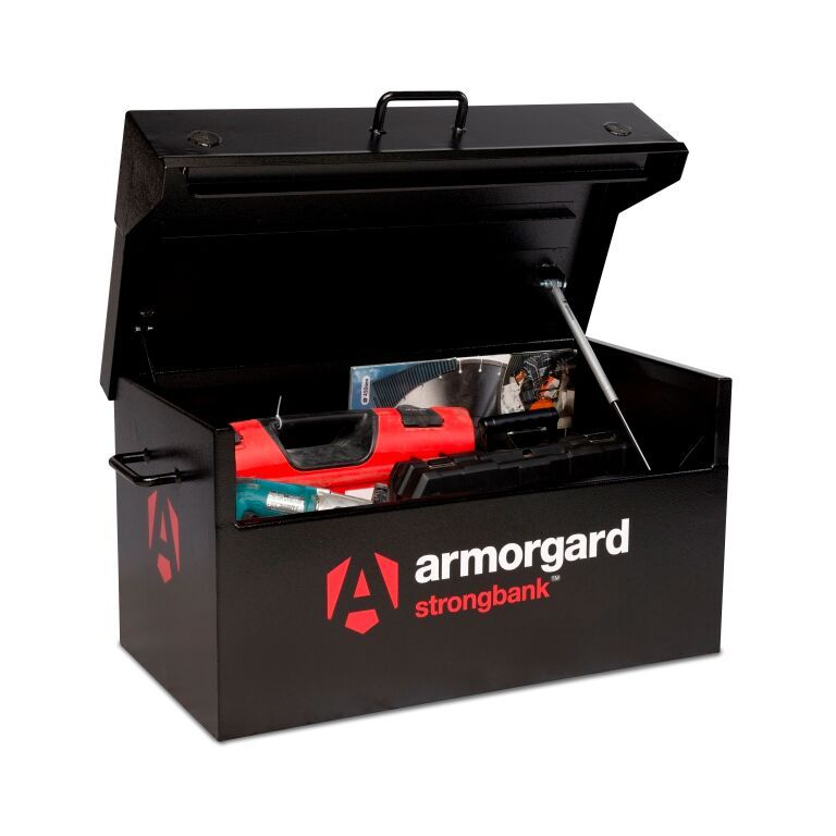 Armorgard Strongbank SB1 ultra strong secure van box. Premium range made from 3 and 5 mm steel.