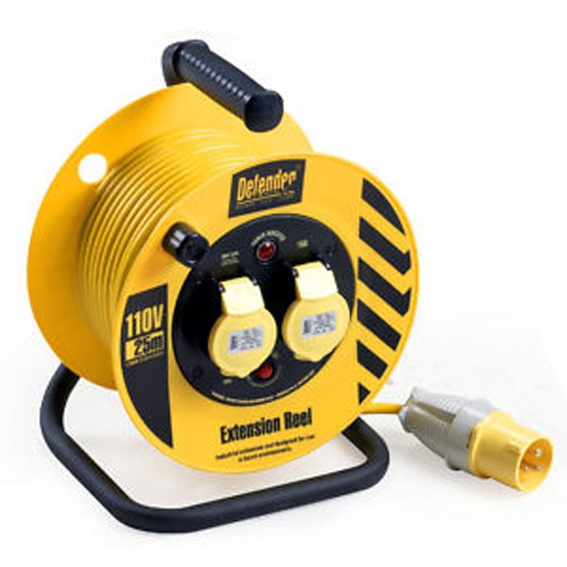 Defender E86455 25m 110 volt Light industrial Cable reel