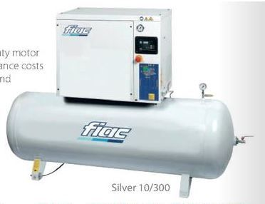 Fiac Silver 20/300 20.0 HP, 270 Litre tank, 400V Screw Compressor available from Wasp Supplies Ltd online store