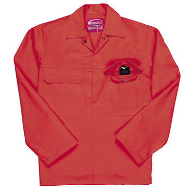 Flame retardant jackets, various colours available.