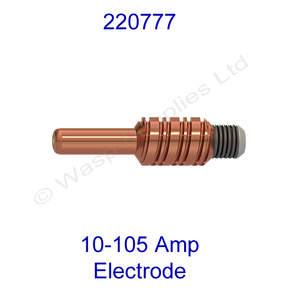 Hypertherm 220777 Copper plus Electrode gives double electrode life, pk 5