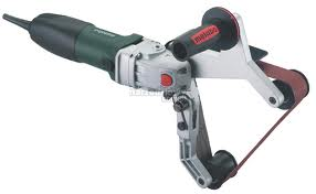 Metabo RBE 12-180 PIPE BELT SANDER POLISHER and abrasives