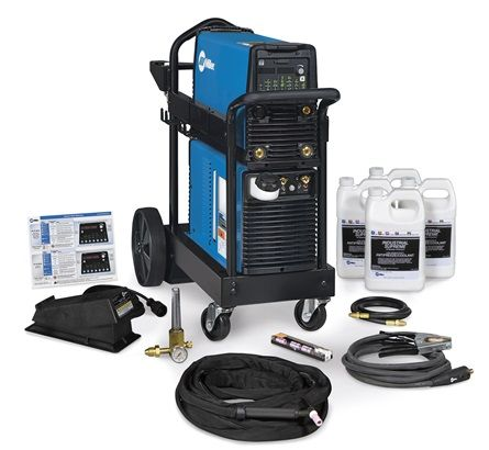 Miller Dynasty 280 DX AC/DC Tig Welder, water cooled torch, trolley + pedal