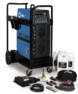 Miller Dynasty 400 AC/DC water cooled Tig Welder ready to weld package from wasp supplies ltd