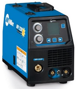 Miller MPI 220 MIG Tig and MMA  multifunctional portable welder 220 amp, buy online from wasp supplies ltd
