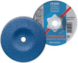 Pferd CC-grind-Solid 115 mm for Stainless steel, high stock removal grinding disc. Part no 900895