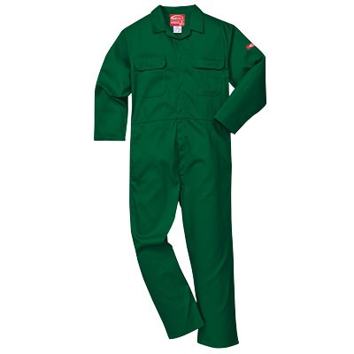Portwest Bizweld (Bottle Green) BIZ1 Flame Retardant Coverall (ONLY available in regular leg)