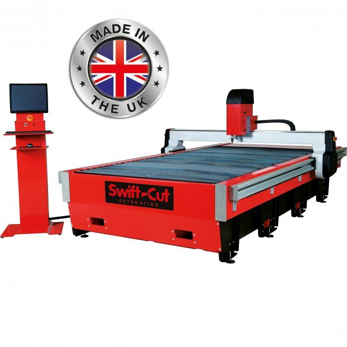Swift-cut Pro 2500 CNC plasma cutting table up to 25mm cut, water bed, installation and training .